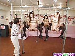 Kinky bondage cho sleazy maids